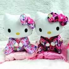 2pcs/set  Kawaii Japan Kimono Hello Kitty Cat Toys Juguets Plushies Hello Kitty Toy Set Adora Doll For Girls Birthday Gift(China (Mainland))