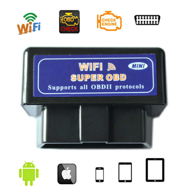Car Auto OBDII Scanner elm327 wifi v1.5 Wireless Code Reader elm327 wifi obd2 android and IOS Car Diagnostic Tool(China (Mainland))