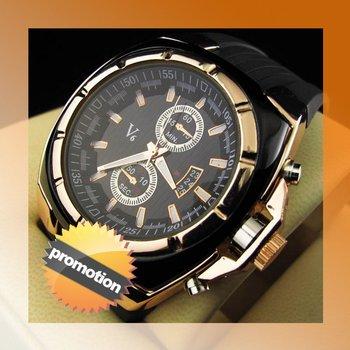 Fashion Watches Rubber Watch Quartz Men's wristwatch (NBW0FA5522-GO3)