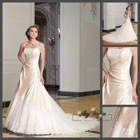 SP1912  Custom Made 2014 New Design A line Backless Sweetheart Lace Bridal Gown vestido de noivas Wedding Dresses Free Shipping