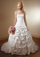 Free Shipping!!!Wholesale - cheap wedding dresses!white chapel train sheath wedding dresses/bridal gowns