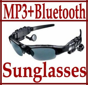 Sunglasses Mp3 Player Bluetooth Sunglass  Headset 4GB with AC charge Wholesale 8 pcs per lot