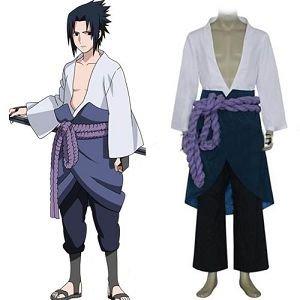 Naruto Shippuden Sasuke Uchiha 3rd Costume cosplay costumes - Free shipping(China (Mainland))