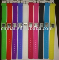 Newly Silicone Wristband with Watch for business promotion