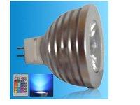 IR Remote controlled RGB LED spot light;MR16 Base;1*3W