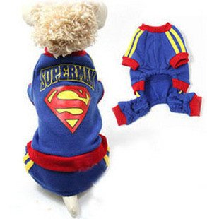 "High quality Fashion ""Supper Man"" Dog clothing"