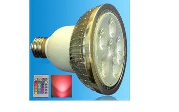 IR Remote controlled RGB LED PAR30 spotlight;dimmable;E27 Base;6*3W;Bridgelux Chip