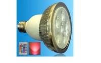 IR Remote controlled RGB LED PAR30 spotlight;dimmable;E27 Base;6*3W;Bridgelux Chip
