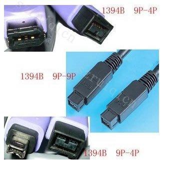 Hi-speed IEEE 1394B 9p-9p/9p-6p/9p-4p FireWire Cable