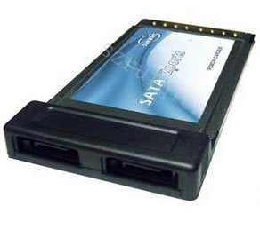 PCMCIA Cardbus to 2 SATA Ports Card Adapter(China (Mainland))