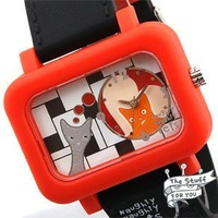 wholesale cartoon watches/Free shipp Wrist Watch Naughty pets No 1 Fashion 2010 spring