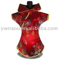 Free Shipping Brocade Wine Bottle Clothes,wine bottle cover 1 lot saling for mix color