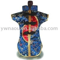 Free Shipping Brocade Wine Bottle Cover,wine bottle clothes with superior quality