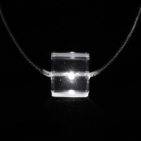 White Light Glitter LED Necklace (3*AG13 Included)