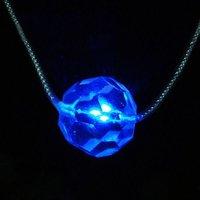 Blue Light Glitter LED Necklace (3*AG13 Included)