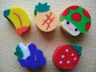 wholesale cartoon eraser/free shipping Wholesale 100pcs/lot Eraser so hot fruit no 1