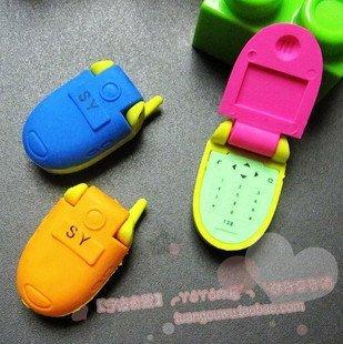 wholesale cartoon erase/free shipping Wholesale 100pcs/lot Eraser so hot  phone no 1