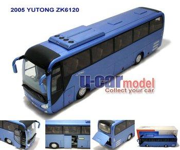 1pcs/lot 1:42 China YuTong Coach Bus ZK6120 Die-cast Model Car (Bule)