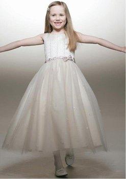 Little girl's beautiful dress/free shipping Flower Girl Dresses,girl's dresses,girl's party dress,sleeveless