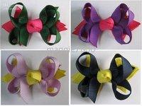 ribbon bows HS-6 Sweet Girls' Hair Accessories Baby hair bows Baby hairs clip grosgrain