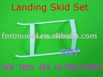 F00625,   1 X White Plastic Landing Skid Set For  T-REX 450 V2 SPORT PRO + FS
