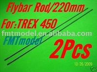 F00139-2  F-HS1264 Flybar Rod 220mm For ALIGN T-REX T-REX 450 PRO SPORT SE V2 Rc Helicopter Helicopter  + Free shipping