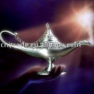 Free Shipping - Aladdin lamp home decor craft Tin-Alloy material size S