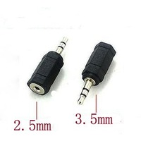 3.5 mm Male to 2.5 mm Female 3.5 to 2.5 stereo Jack Audio pc phone headphone earphone Converter adapter cable plug