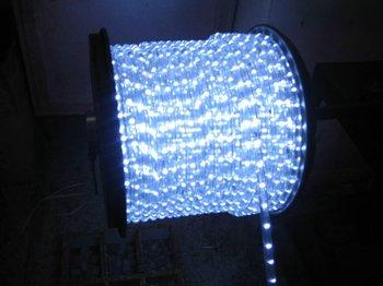 100m/roll LED 2 wires round rope light;36leds/m;13mm diameter;DC12V/24V/AC110/220V are optional;white color