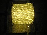 100m/roll LED 2 wires round rope light;36leds/m;13mm diameter;DC12V/24V/AC110/220V are optional;warm white color
