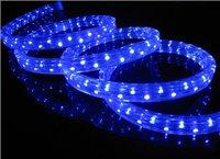 100m/roll LED 3 wires flat rope light;30leds/m;size:11mm*18mm;DC12V/24V/AC110/220V are optional;blue color
