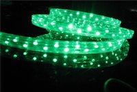 100m/roll LED 3 wires flat rope light;30leds/m;size:11mm*18mm;DC12V/24V/AC110/220V are optional;green color