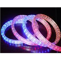 100m/roll LED 4 wires flat rope light;36leds/m;size:11mm*22mm;DC12V/24V/AC110/220V are optional;blue color