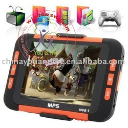 3pcs/lot MP6 Player with 3.5 Inch LCD Screen + ISDB-T Digital TV (8GB) - Li-ion Battery Built-in(China (Mainland))