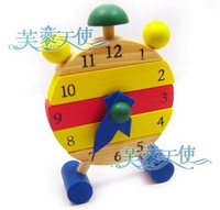 Free shipping--Removable wooden color clock / awareness of time / child educational toys