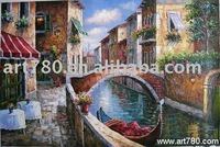 100% handmade oil painting for wholesale on line, canvas oil paintings venice,venice painting,landscape canvas art