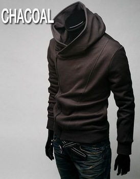 men's hooded jacket Free Shipping hooded clothing hedging clothing Men sweater jackets coats (Black, light gray, brown)JK1