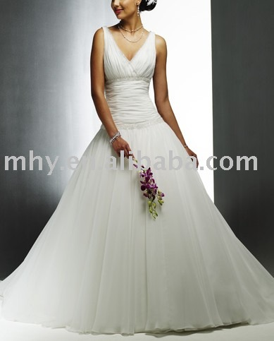 accept and custom made , dress,Wholesale 2009 Stunning Bridal wedding gown, wedding dresses, wedding wear, moq:1pc(China (Mainland))
