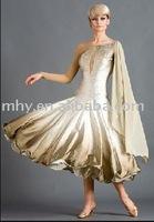 champagne nylon dance dress  MZH036