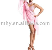 pink organza dance dress for Christmas MZH025