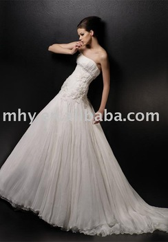 2010 organza flower rose wedding dresses,hot sell wedding gowns  055