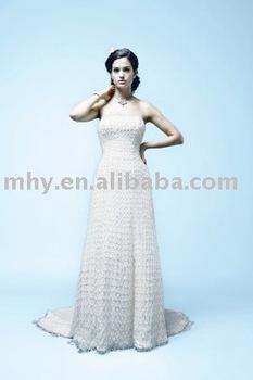 fur wedding dresses,bridal wedding gowns accept   DT031