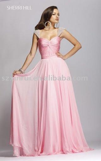 vestido de noite, belo vestido de noite, vestido de noite, vestido de noite romântica , feito à medida aceitar -ZBY126(China (Mainland))