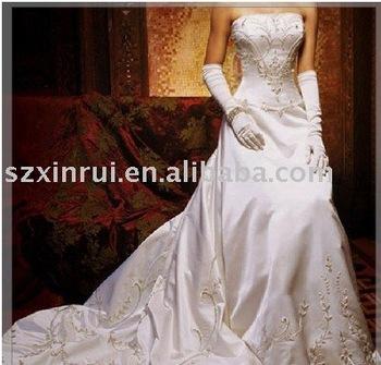white satin wedding dress for chrismas  DS1766