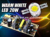 20W Warm White High Power 1000LM LED Light + AC Driver