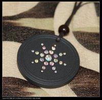 classic design-crystal quantum scalar energy pendants with ENERGY BEADS&gift!!