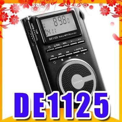 Free shipping DEGEN DE 1125 FM MW SW DSP Portable Recorder Radio wholesale(China (Mainland))
