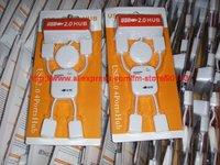 Free shipping by China Post. USB2.0 4 Port Hub