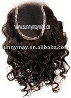 "Stock AAAA grade 4""*4"" size Virgin Brazilian Lace Top Closure"