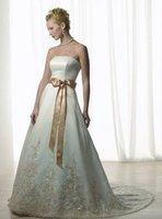 Free shipping 2010 new fashion bride wedding dress/ backless embroidered wedding dress/ wedding gowns /good party dress